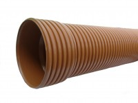 Kanalizačná korugovaná rúra 400x5000 SN8   Kanalizačné plastové rúry korugované